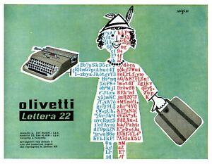 Pubblicità Lettera 22 Olivetti